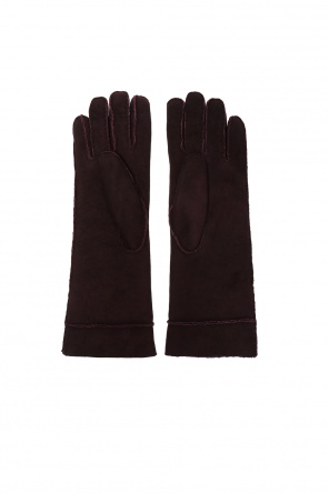 Shearling gloves od Isabel Marant